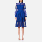 Three Floor Women's Enfold Dress Blue