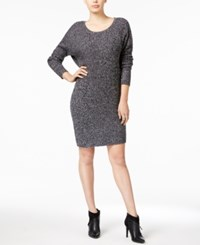 Bar Iii Ribbed Sweater Dress Only At Macy's Black Combo