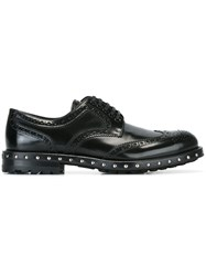 Dolce And Gabbana Studded Brogues Black