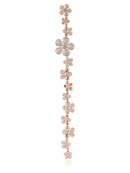 Colette Jewelry Flower Duster Mono Earring Rose Gold