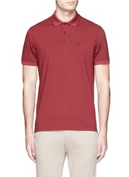 Isaia Logo Embroidered Polo Shirt