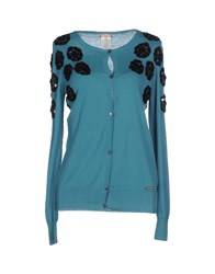Galliano Knitwear Cardigans Women Deep Jade