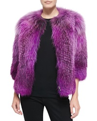 Prabal Gurung Fox Fur Front Zip Jacket