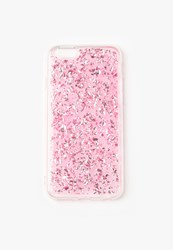 Missguided Pink Glitter Flake Iphone 6 Case