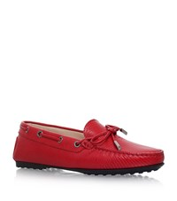 Tod's Gomma Tie Driving Shoes Female Fuchsia
