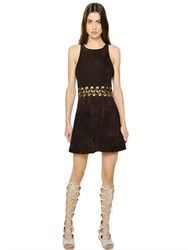 Chloe Suede Dress With Lacing Detail