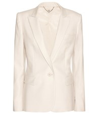 Stella Mccartney Ingrid Wool Blazer Beige