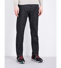Canali Regular Fit Stretch Denim Jeans Black