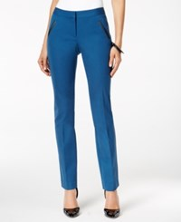Alfani Faux Leather Trim Slim Leg Pants Only At Macy's Global Blue