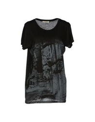 Pieces T Shirts Black