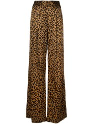 Michelle Mason Wide Leg Trousers Brown