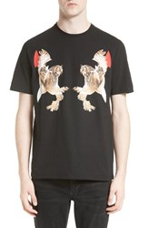 Neil Barrett Men's Mirrored Owl T Shirt