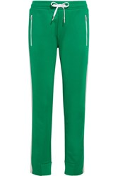 Rag And Bone Mika Satin Trimmed Jersey Track Pants Green