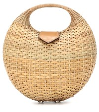 Kayu Elena Wicker Basket Bag Beige