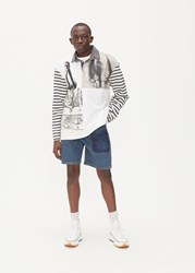 J.W.Anderson Jw Anderson 'S Durer Print Rugby Shirt In Off White Size Small 100 Cotton