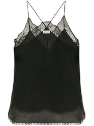 Zadig And Voltaire Lace Detail Camisole Top Black