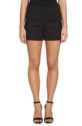 1.State Women's Flat Front Shorts Rich Black