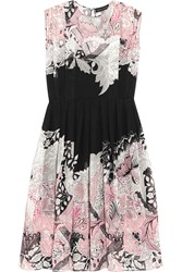 Jonathan Saunders Marlow Printed Silk Georgette Dress Pink