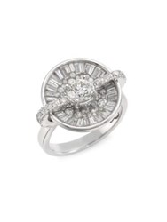 Pleve Opus Ice Diamond And 18K White Gold Round Ring
