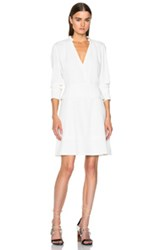 Proenza Schouler Satin Back Crepe A Line Dress In White