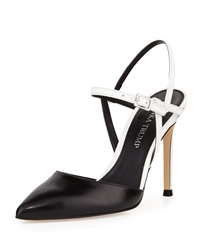 Ivanka Trump Geva Two Tone Leather Pump Black White