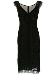 Martha Medeiros Lace Mara Midi Dress Black