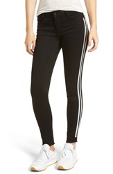Articles Of Society Sarah Stripe Skinny Jeans Active Black