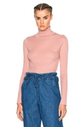 Ulla Johnson Mars Turtleneck Sweater In Pink