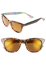 Lilly Pulitzerr Women's Pulitzer Maddie 52Mm Polarized Mirrored Sunglasses Havana