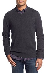 Men's 1901 Melange Knit Merino Wool And Cashmere Sweater Grey Charcoal