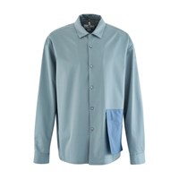 Oamc Noise Cotton Shirt Psych Blue