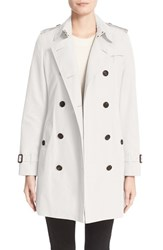 Burberry Women's London 'Kensington' Double Breasted Trench Coat Stone