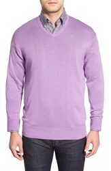 Men's Peter Millar Silk Blend V Neck Sweater Mirage