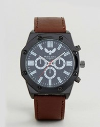 Brave Soul Hexagonal Watch With Dials Brown
