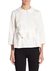 Comme Comme Peter Pan Collar Blouse White