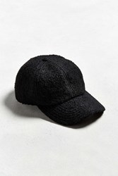 Urban Outfitters Uo Wool Baseball Hat Black