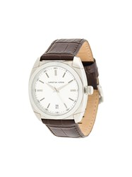 Christian Koban Dom Watch Stainless Steel Diamond Calf Leather Brown