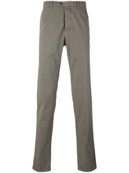 Kiton Slim Fit Chinos Men Cotton Spandex Elastane 35 Nude Neutrals