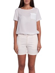 French Connection Summer Stretch Chino Shorts Cream Pink