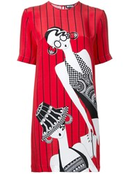 Holly Fulton Ladies T Shirt Dress Red