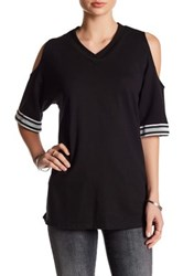 Dance And Marvel V Neck 3 4 Length Sleeve Shirt Black