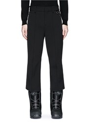 Neil Barrett Satin Stripe Flare Cropped Ski Pants Black