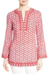 Tory Burch Women's Jayne Floral Print Cotton Tunic