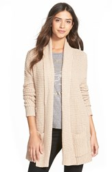 Billabong 'Tripped Up' Cardigan Moonlight Black Peach