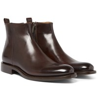 O'keeffe Polished Leather Chelsea Boots Brown