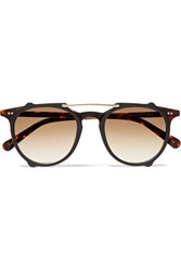 Sunday Somewhere Odin Round Frame Tortoiseshell Acetate And Gold Tone Sunglasses Usd