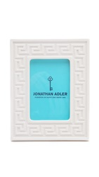Jonathan Adler Greek Key Frame White