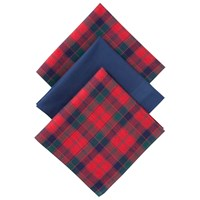John Lewis Tartan Handkerchiefs Pack Of 3 Red