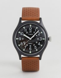 Timex Mk1 Perforated Leather Watch 40Mm Exclsuive To Asos Tan