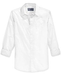 American Rag Men's Short Sleeve Shirt Only At Macy's Bright White